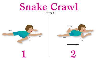 Image result for snake crawl exercise