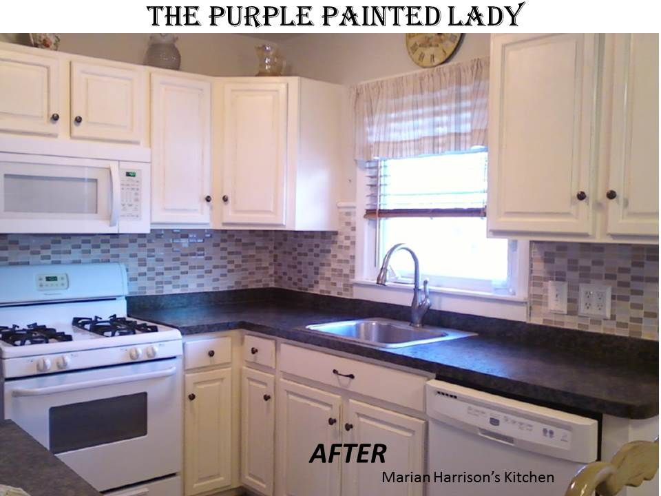 The Purple Painted Lady Shares The Best Tips To Painting Your Own Gorgeous How To Paint Kitchen Cabinets White Inspiration Design