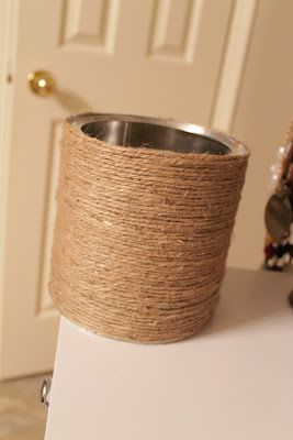 Twine Coffee Tin Container Done Craft Ideas Pinterest Diy
