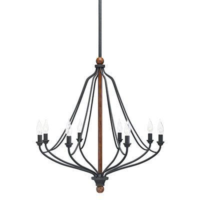 Kichler lighting chandelier 34691 carlotta 8 light distressed black kichler lighting carlotta 8 light distressed black wood hardwired standard chandelier aloadofball Choice Image