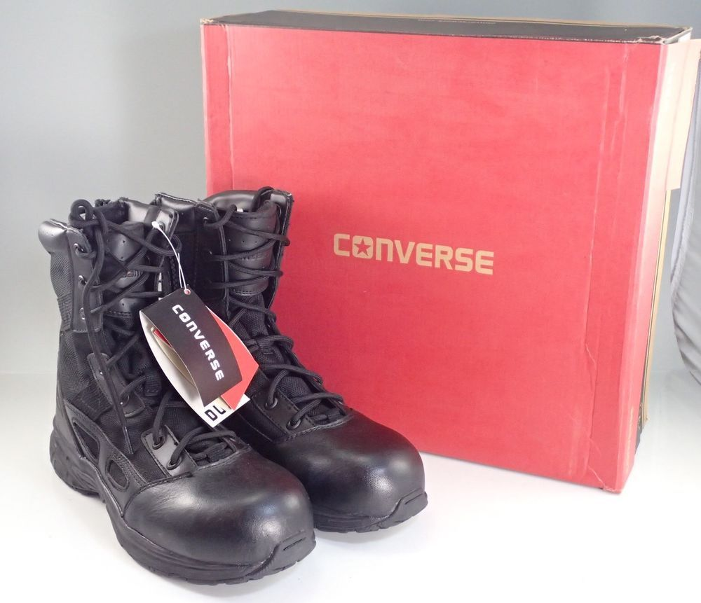 d738cf85e9eee9 Converse Men s Composite Safety Toe Combat Police Duty Work Boots C8295 See  List  Converse