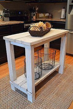 rústica mesa de la cocina de madera recuperada isla, diseño de la ...