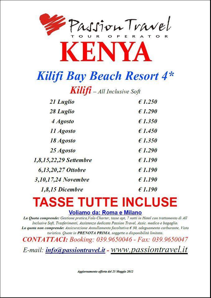 Kilifi Bay Beach Resort ****; Kenya
