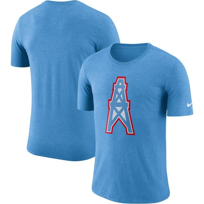 a096d972f Houston Oilers Nike Historic Tri-Blend Crackle T-Shirt – Heathered Blue