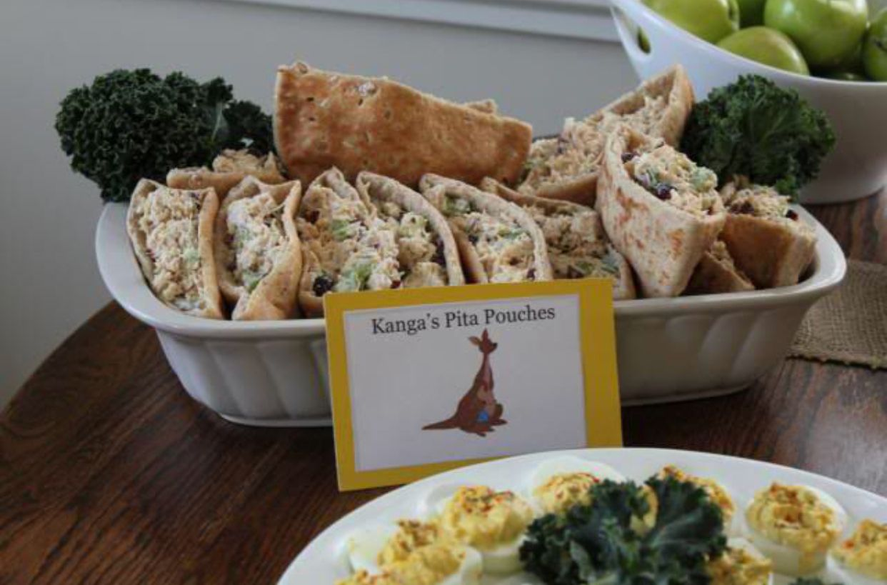 Kangas Pita Pouches Winnie The Pooh Baby Shower Party Food Ideas