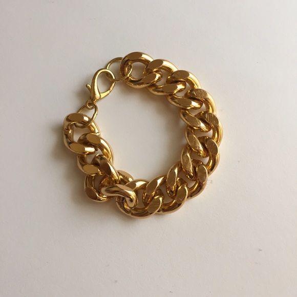 Gold Chain Bracelet Chunky modern gold chain bracelet. Purchased on Etsy, handmade. Never worn. Etsy Jewelry Bracelets