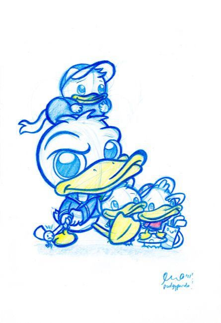 Blauwe tekening