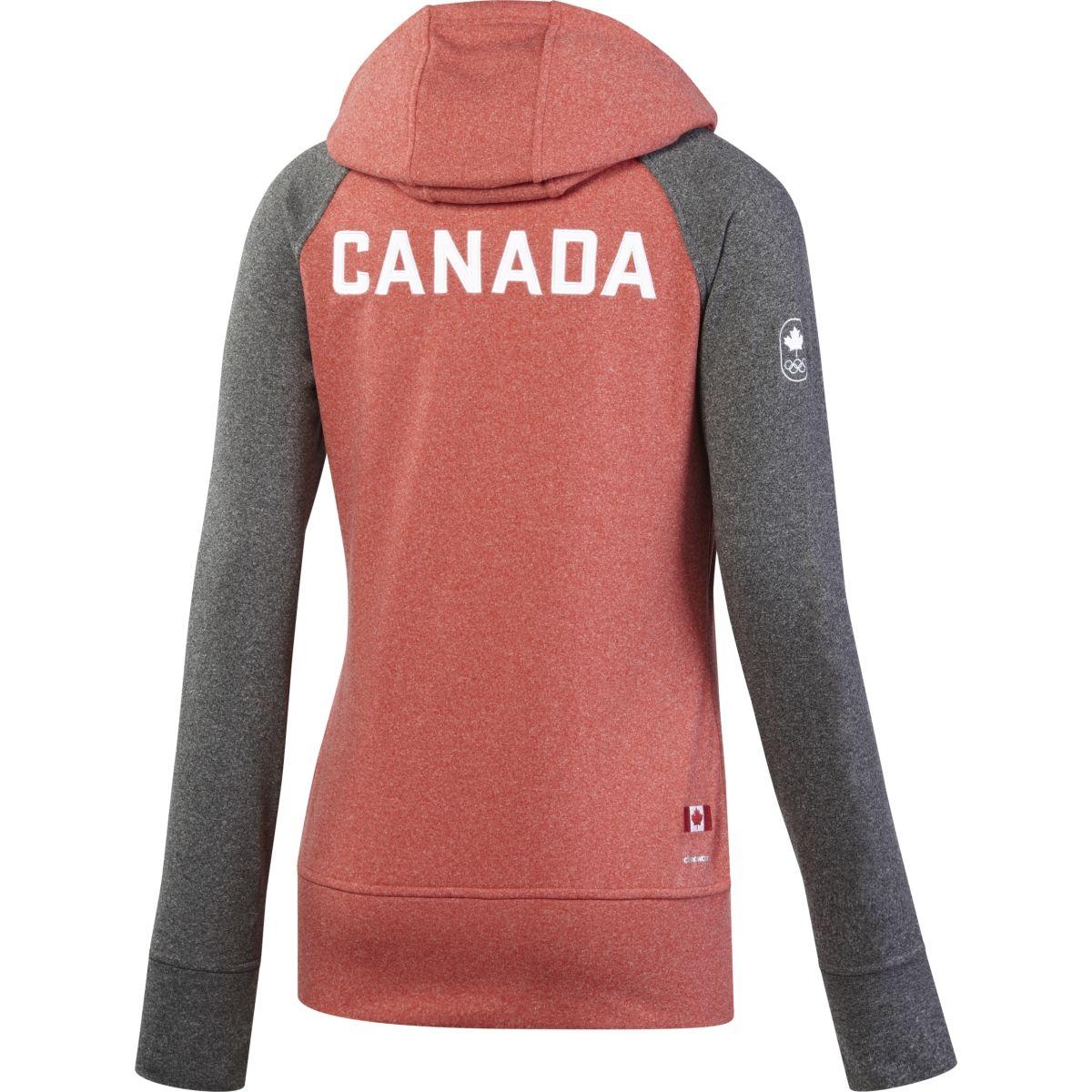 adidas Canadian Olympic Ultimate Fleece Full Zip Hoody