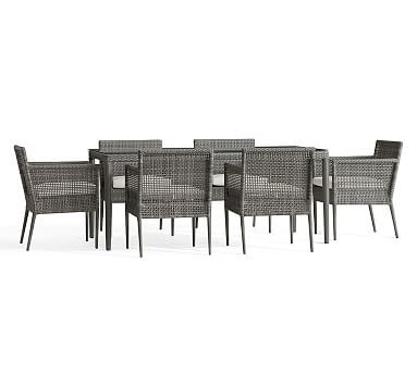 Cammeray Dining Table And 6 Armchairs Wicker Dining Tables Outdoor Furniture Outdoor Dining Furniture