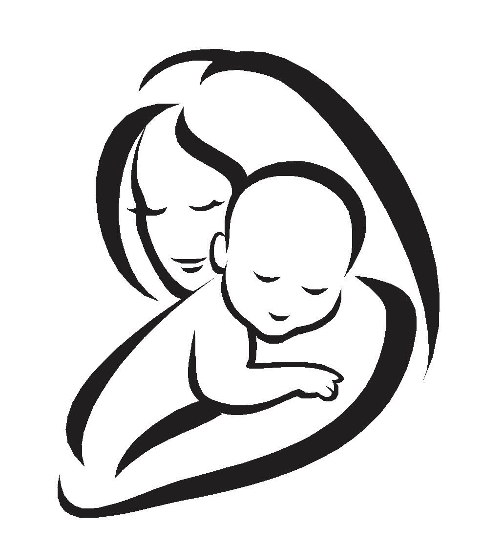 Pin By Shraddha H On Gravid Och Baby Mothers Day Drawings Silhouette Sketch Baby Silhouette