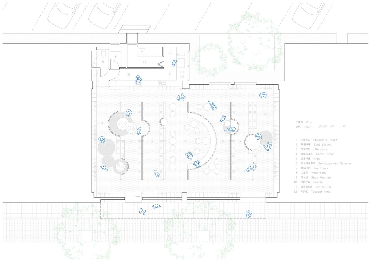 Gallery Of Longshang Books Cafe Atelier Mearc 22 Book Cafe Library Design Library Plan