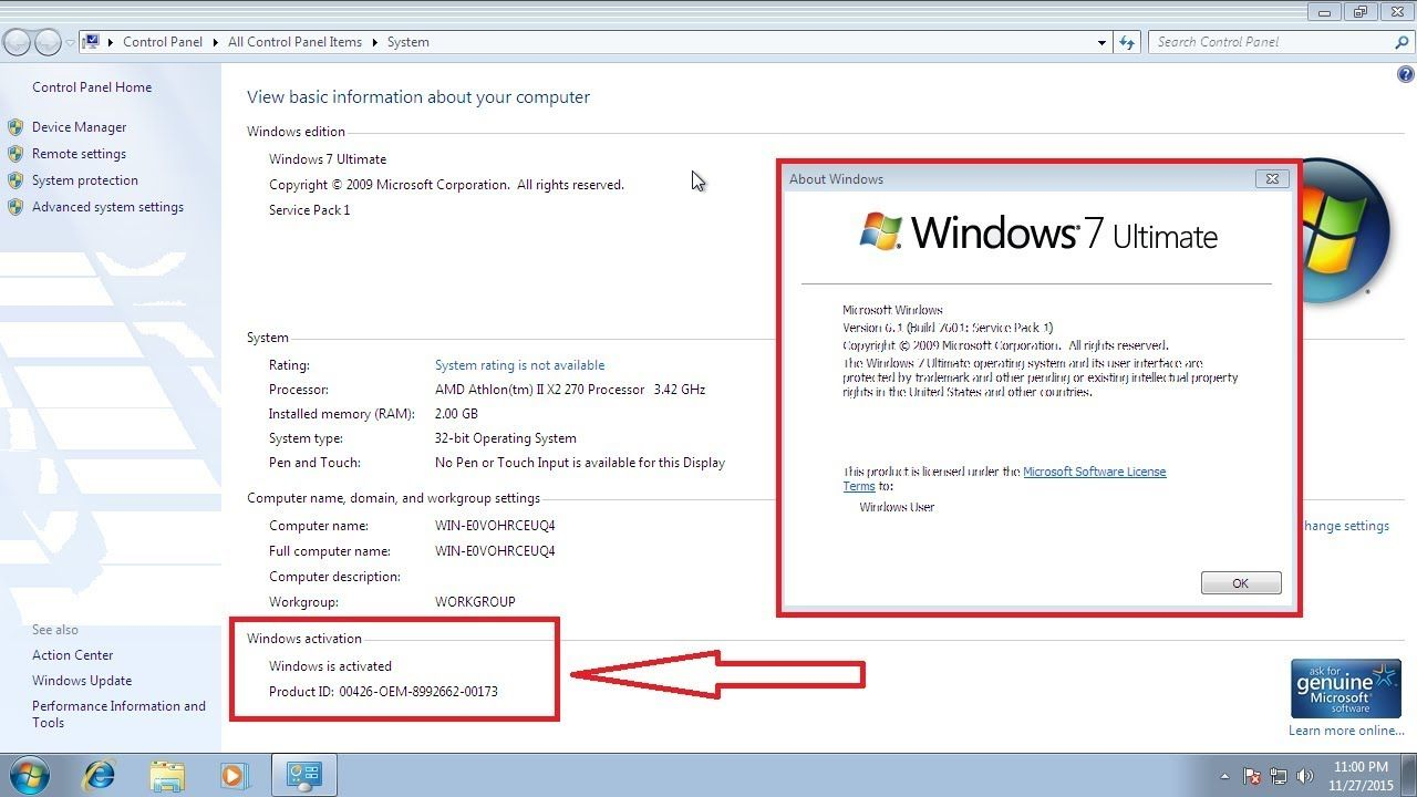 How to activate Windows 7 for free 2018 (With images