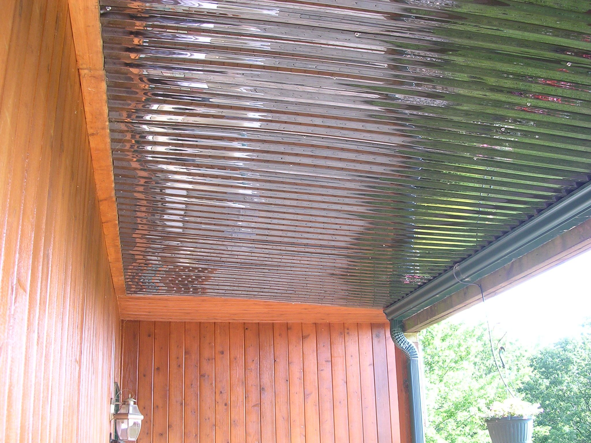 How To Keep Stuff Dry Under New Deck Need Ideas Page 2 Corrugated Metal Roof Home Porch Corrugated Roofing