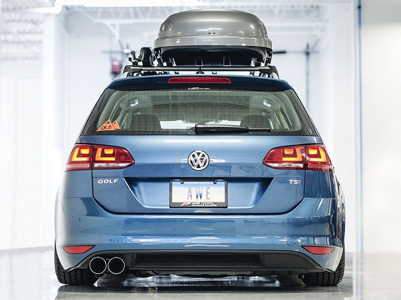awe tuning track edition exhaust  vw golf sportwagen mk chrome silver tips ese tuning