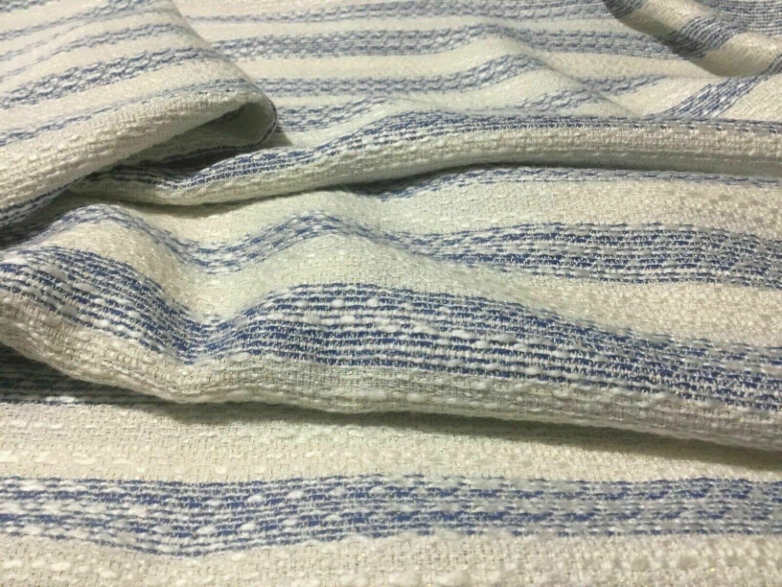 New Designer Multicolored Wool Boucle Fabric As Seen On Designer Catwalk 58''