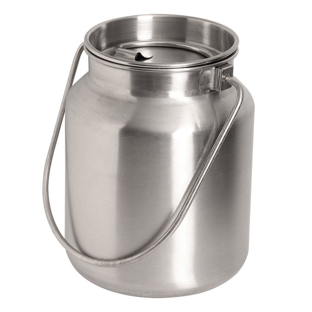 Amazon Com Lindy S Stainless Steel Gallon Jug Silver Kitchen Dining Stainless Steel Food Storage Stainless Steel Bakeware Steel Bucket