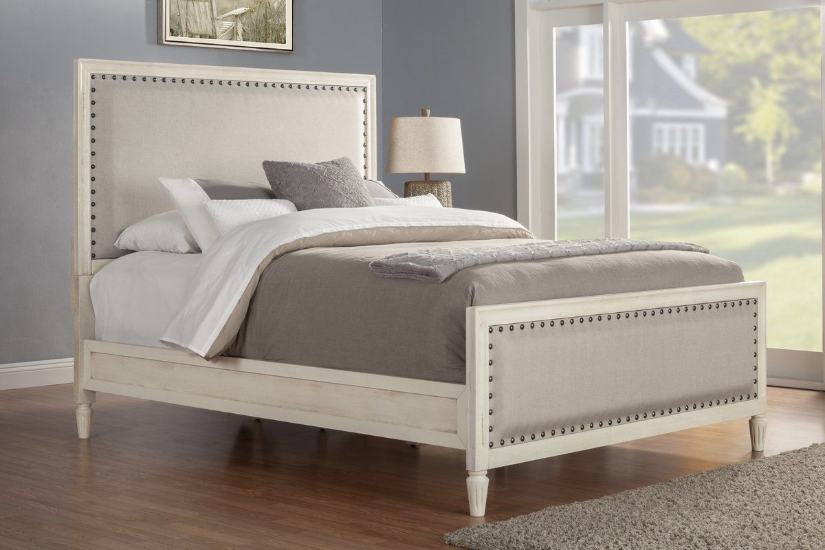 Shirke Upholstered Standard Bed (With images