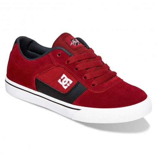 fe7a821c0d5a4 DC Shoes Cole Pro Youth burgundy red chaussures de skate pro-model ...