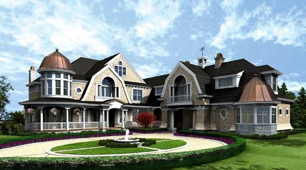 Victorian Style House Plan 87643 With 4 Bed 6 Bath 3 Car Garage Craftsman Style House Plans Victorian House Plans Luxury House Plans