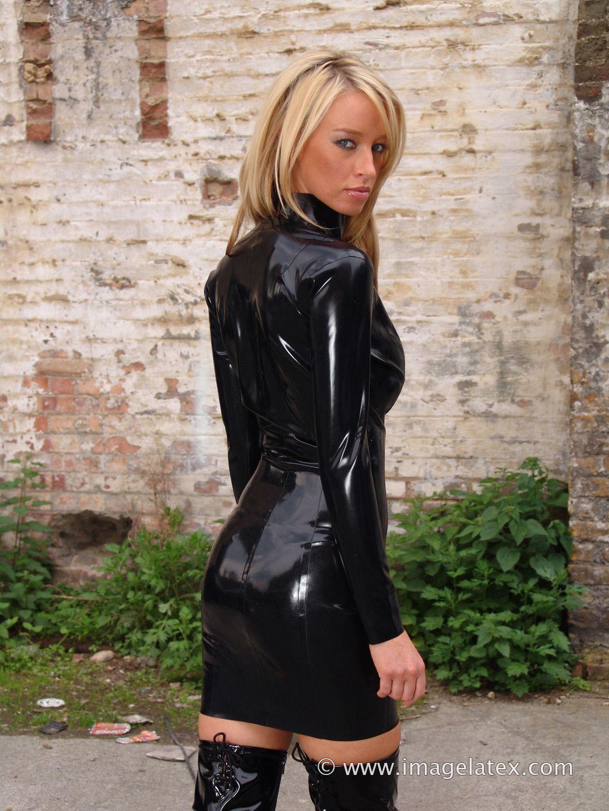 Dress Lauren black latex