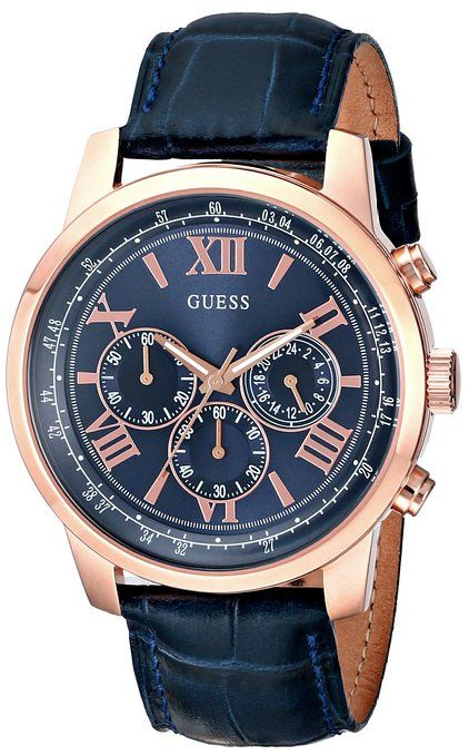 GUESS Men's U0380G5 Iconic Rose Gold-Tone Stainless Steel ...