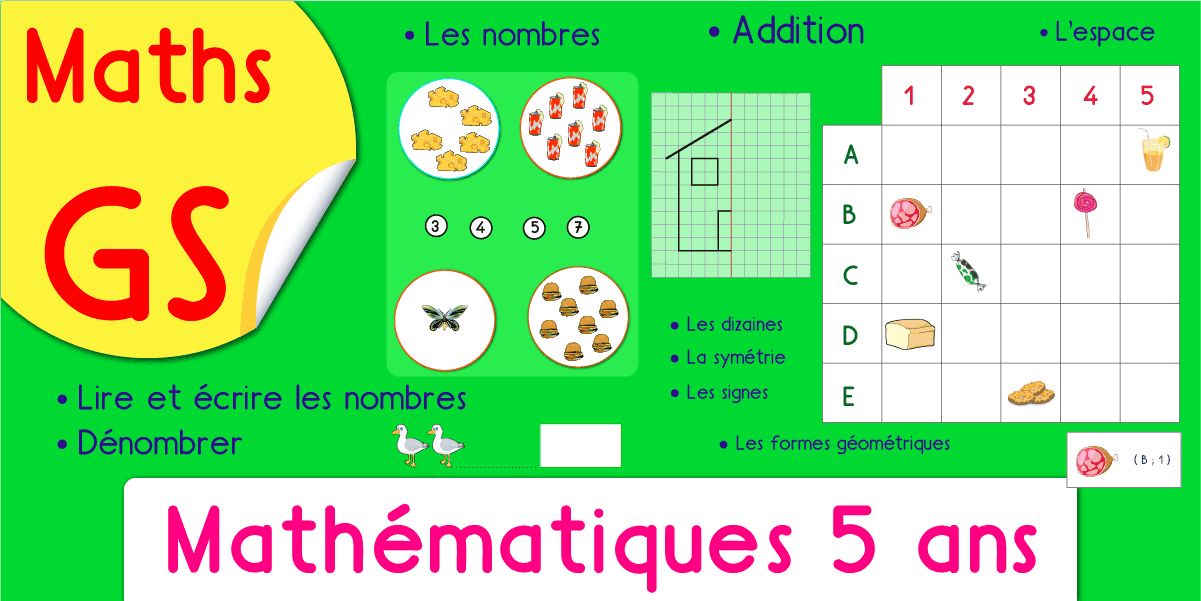 Exercices Maths GS Maternelle Grande Section Jeux Fiches ...