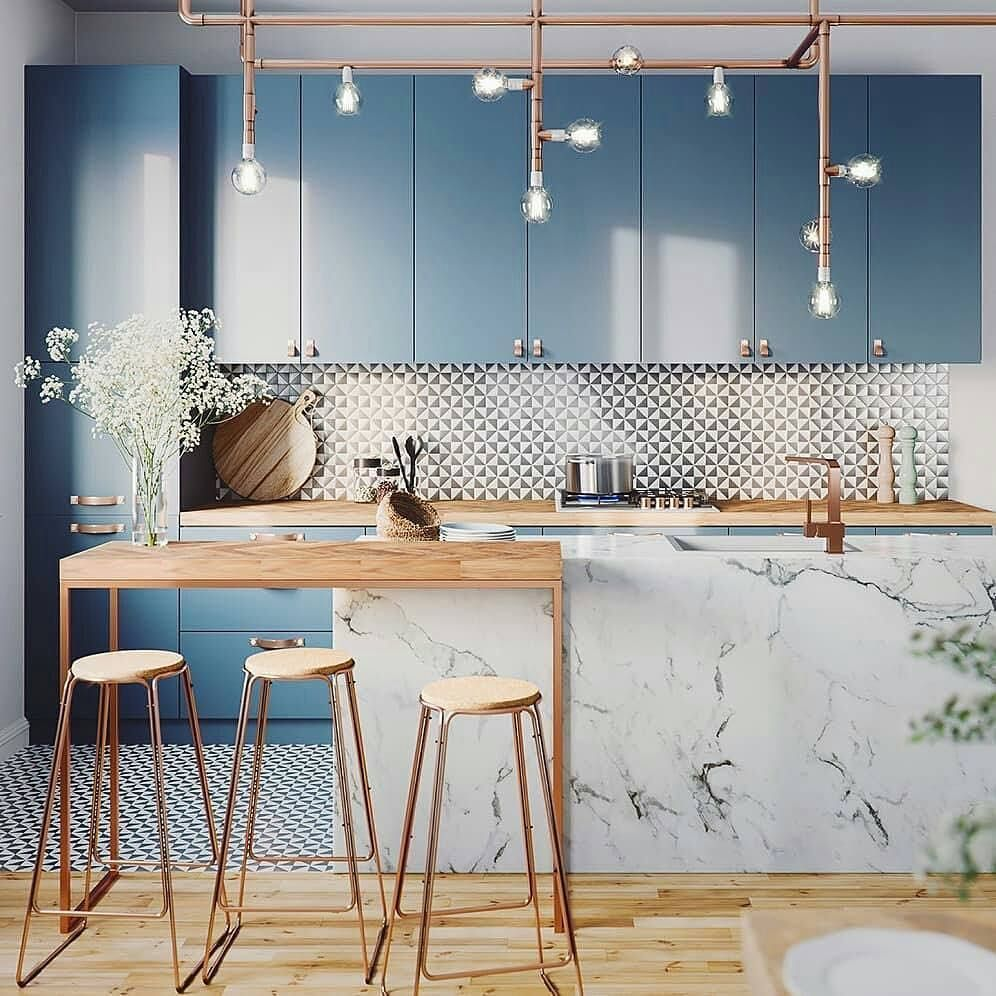"Bar Pour Petite Cuisine design + magazine on instagram: ""kitchen euphoria! render"