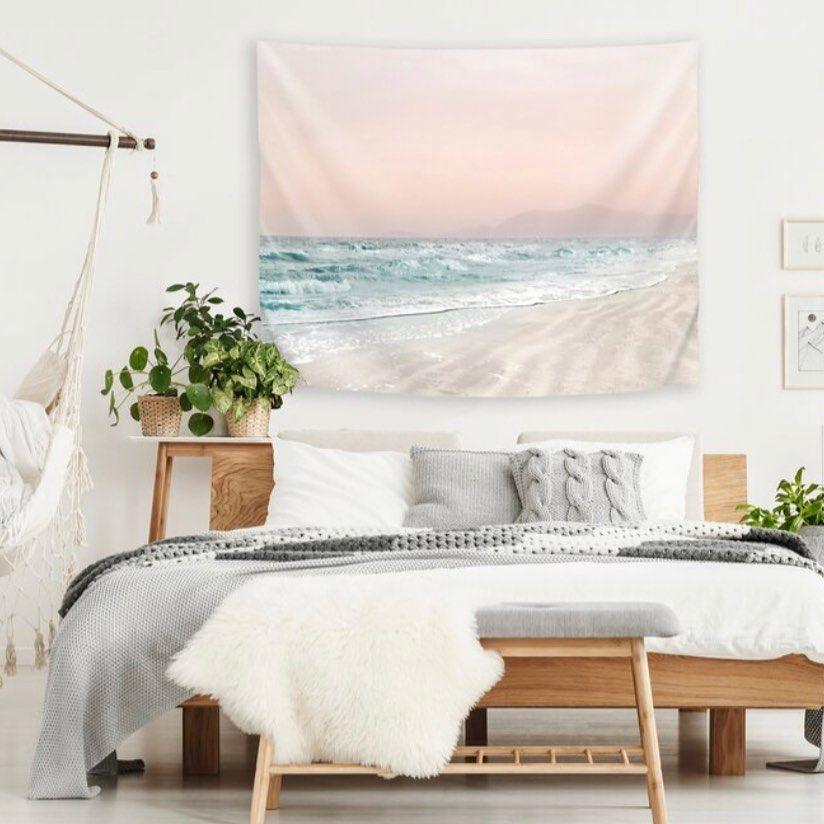 Hope Bainbridge Art On Instagram Beach Vibes Iv Tapestry Link In Bio Beach Tapestry Photography Mixedmedia Desig Home Decor East Urban Home Home