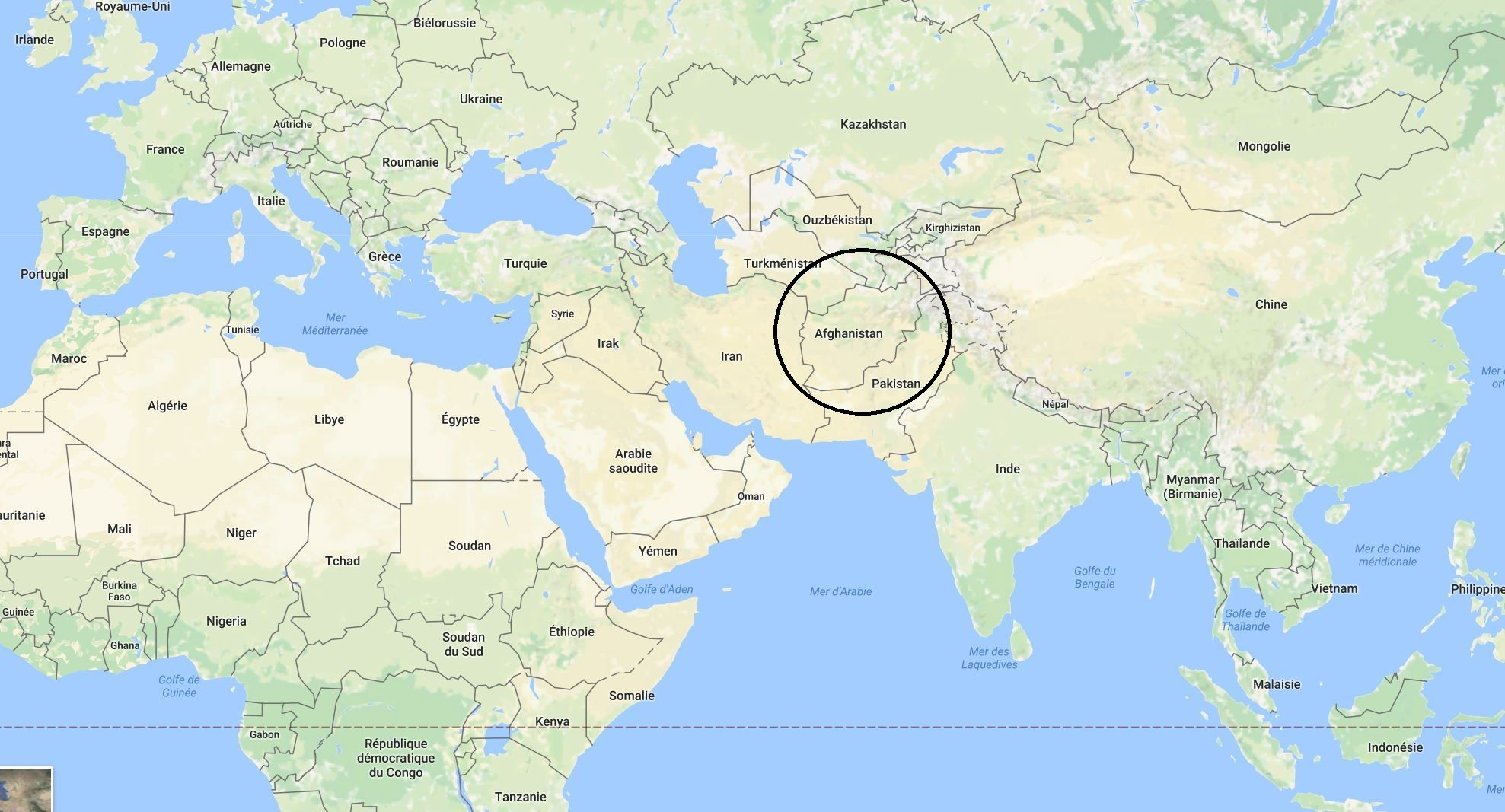 Carte Afghanistan Policier Raconter Tanzanie