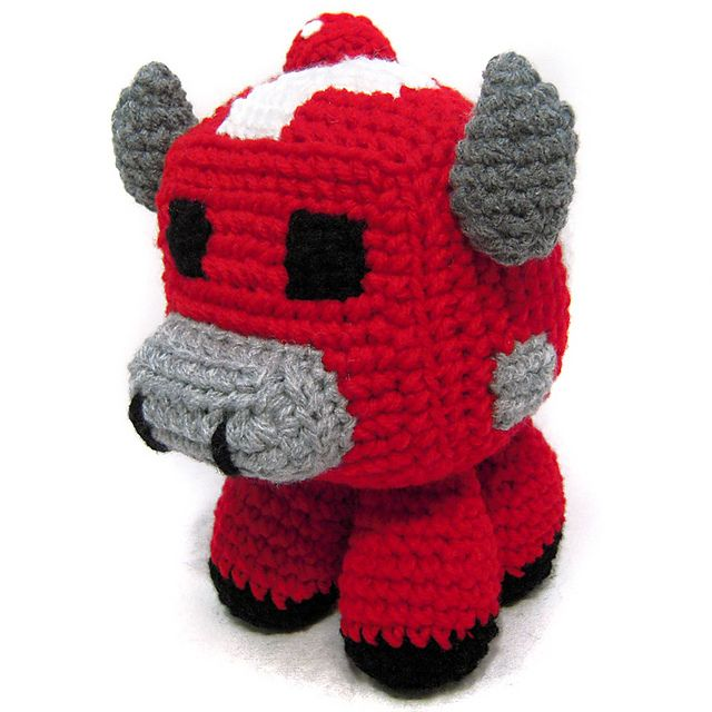 Minecraft: Mooshroom pattern by i crochet things | Decoración de ...