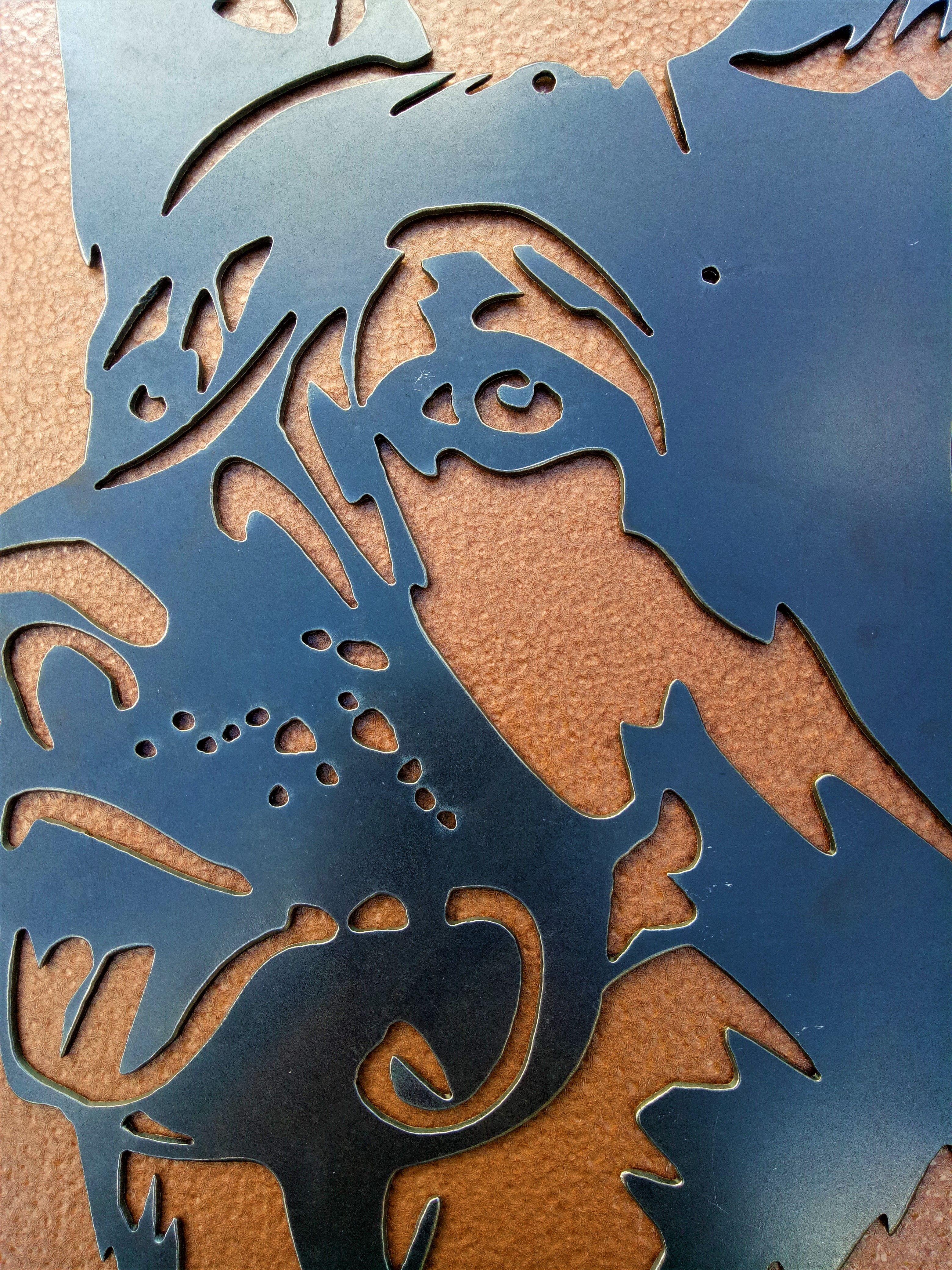 Pin On Rustic Steel German Shepherd Metal Art