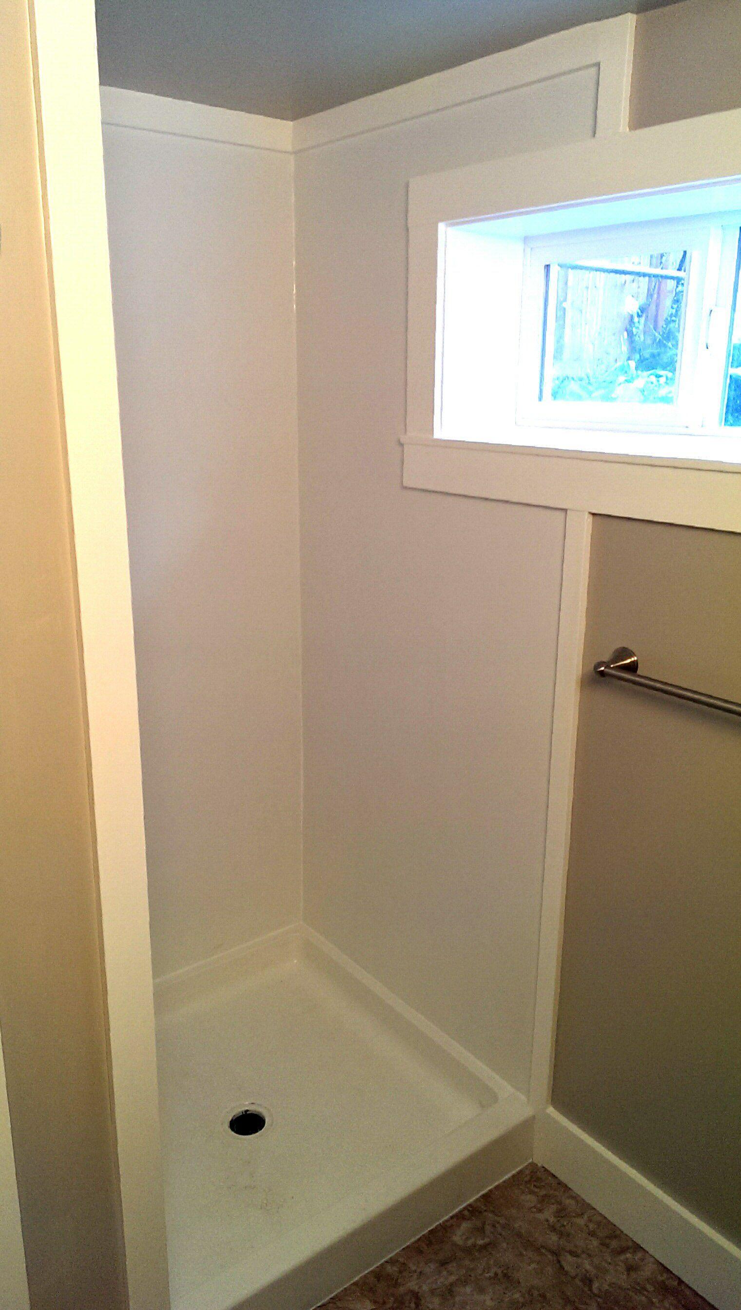 Image result for cut prefab shower walls for window   Bathroom ...