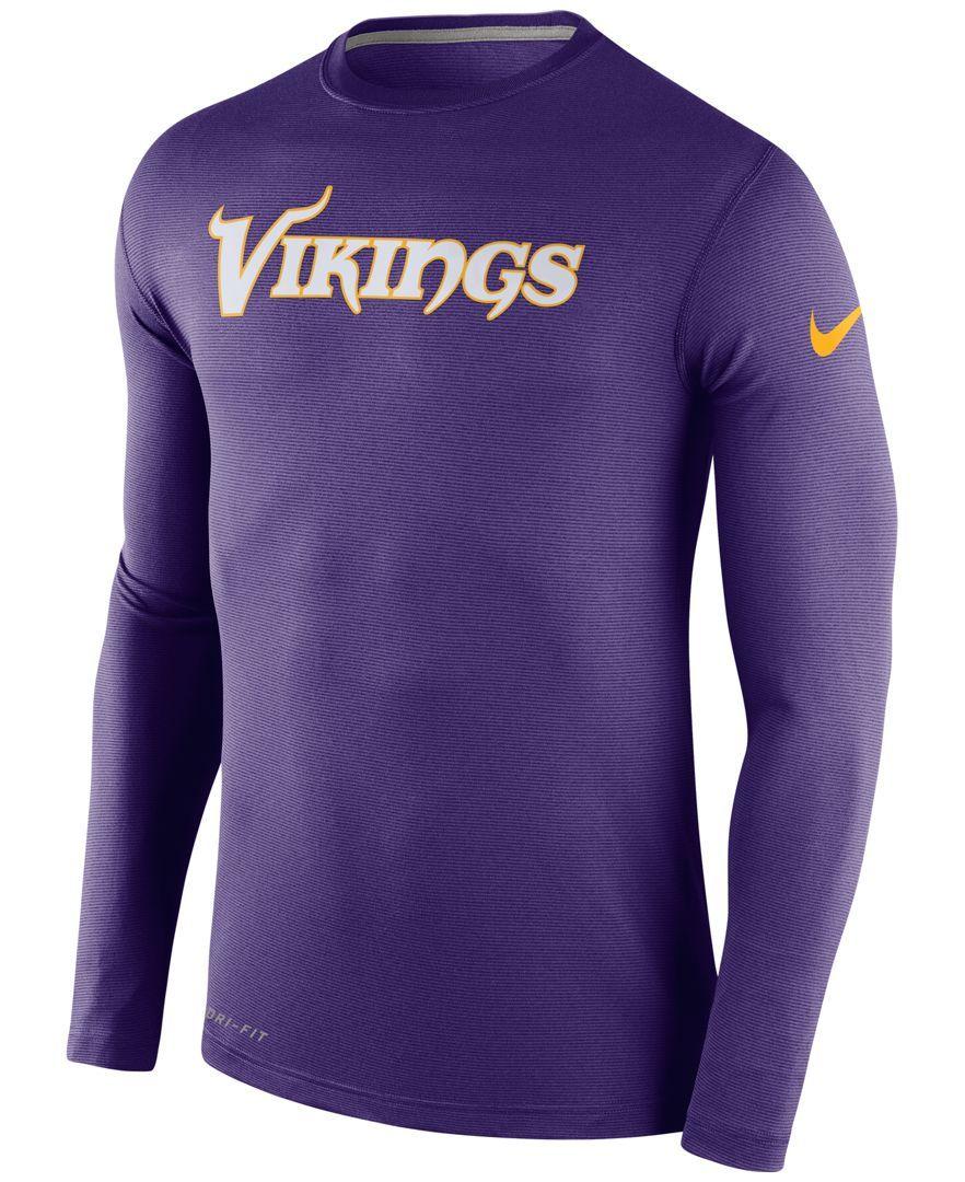d8c351283e1 Nike Men's Long-Sleeve Minnesota Vikings Dri-fit Touch T-Shirt ...