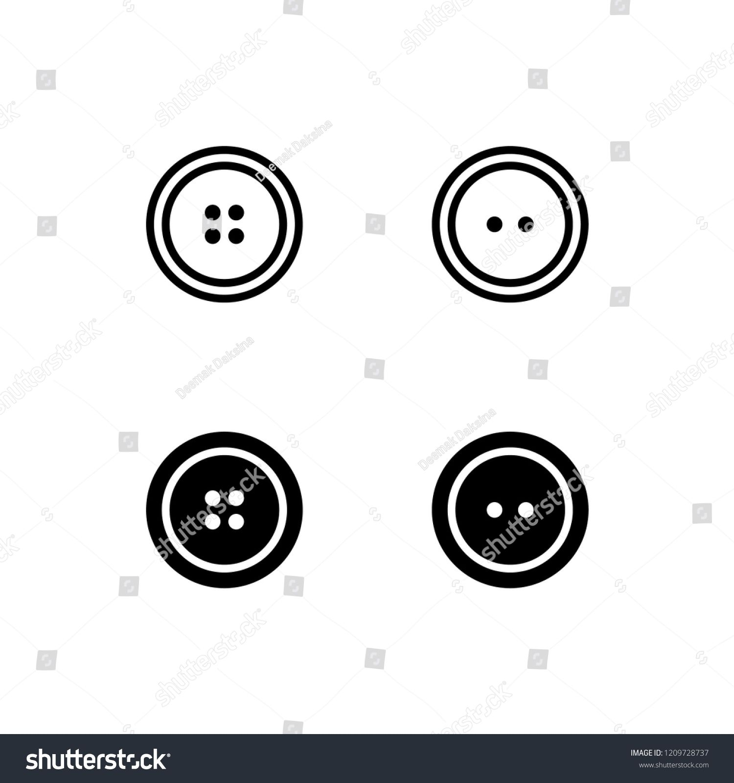 Sewing Button Icon Design. sewing button, fashion, buttons