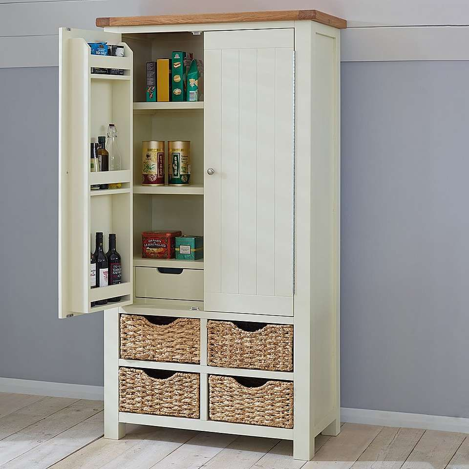 dunelm kitchen storage wilby larder unit larder unit cupboard and drawers 3483