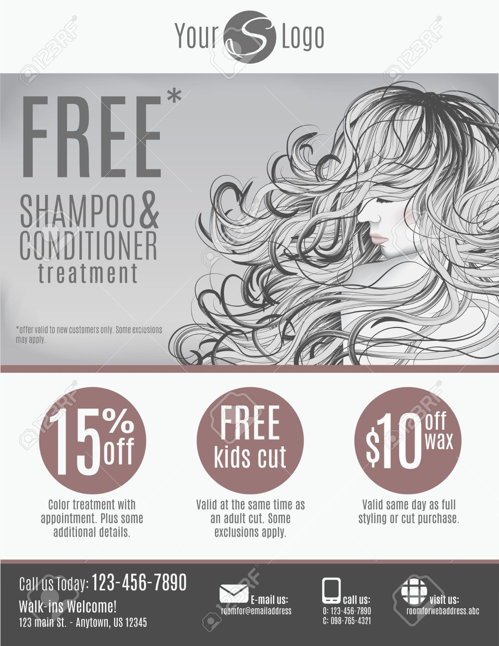 hair salon advertising flyers - Google Search  Salon de belleza