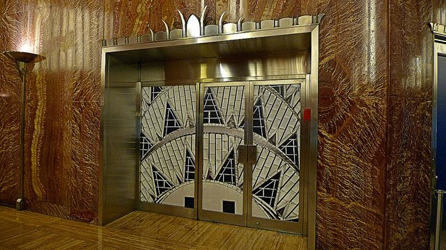 Chrysler Building Interior Door With Images Chrysler Building