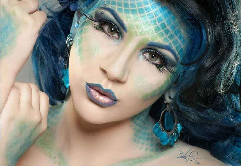Guia Completa Todo Sobre Maquillaje De Fantasia Mermaid Makeup Cute Clown Makeup Makeup