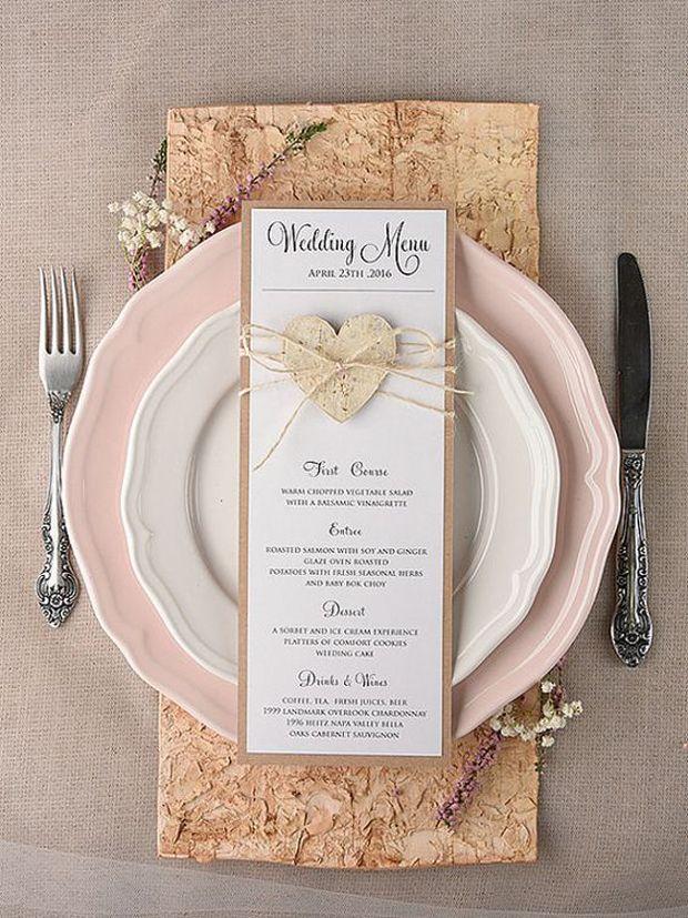 Wedding Decor: 27 Gorgeous Wedding Menus   weddingsonline