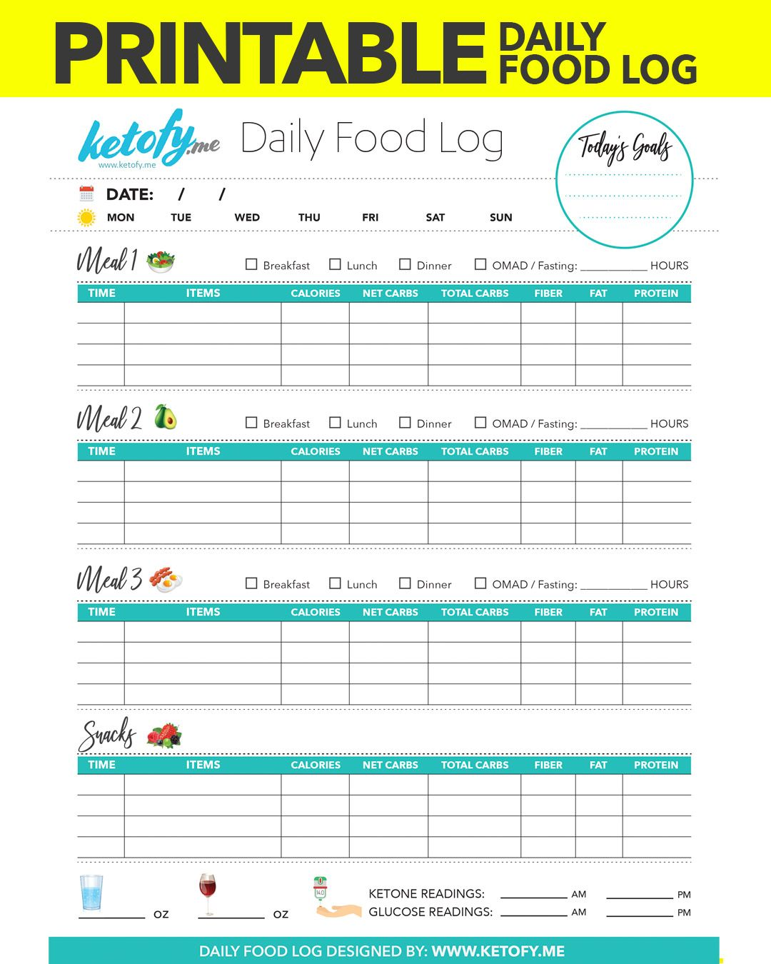 You Can Download Print My Daily Food Log Here This Was Requested By Many And I Hope You Find It Useful I Food Log Food Journal Printable Food Diary Template