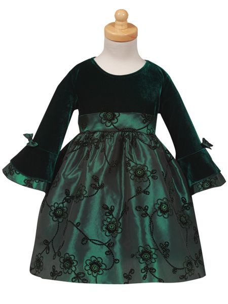 Christmas Dresses For Girls Emerald Green C911 Baby