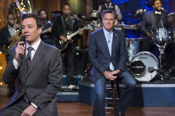 Mitt Romney, Jimmy Fallon and the Roots Slow Jam the News