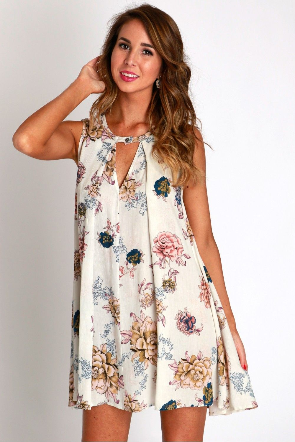 Fleur De Printemps Cutout Dress $34.99