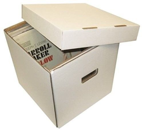 Five 12 Inch Record Storage Box Lid Hold 65 Collectible Vinyl 45 Lp Crate Dj Bcw Record Album Storage Album Storage Record Storage Box