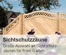 Sichtschutzzaun aus Holz für den Garten online bei www.dein-gartentraum.de bestellen