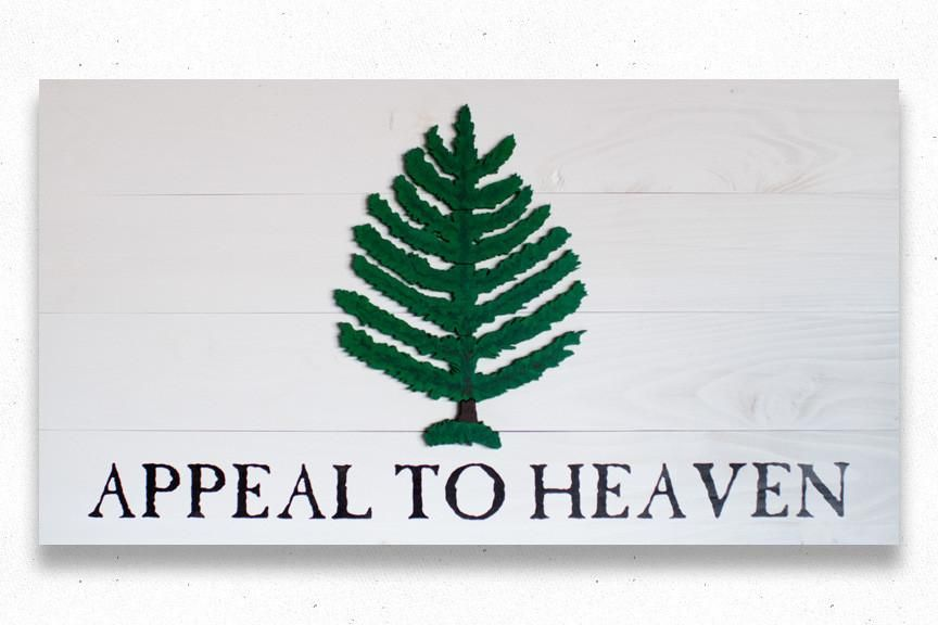 Appeal To Heaven Wood Flag In 2020 Wood Flag Flag Sizes Flag