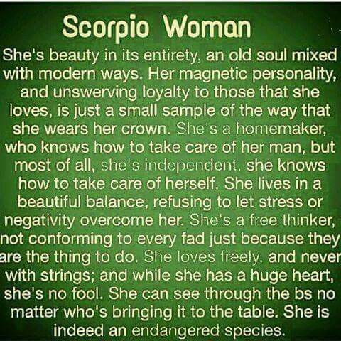 Scorpio woman personality traits and characteristics