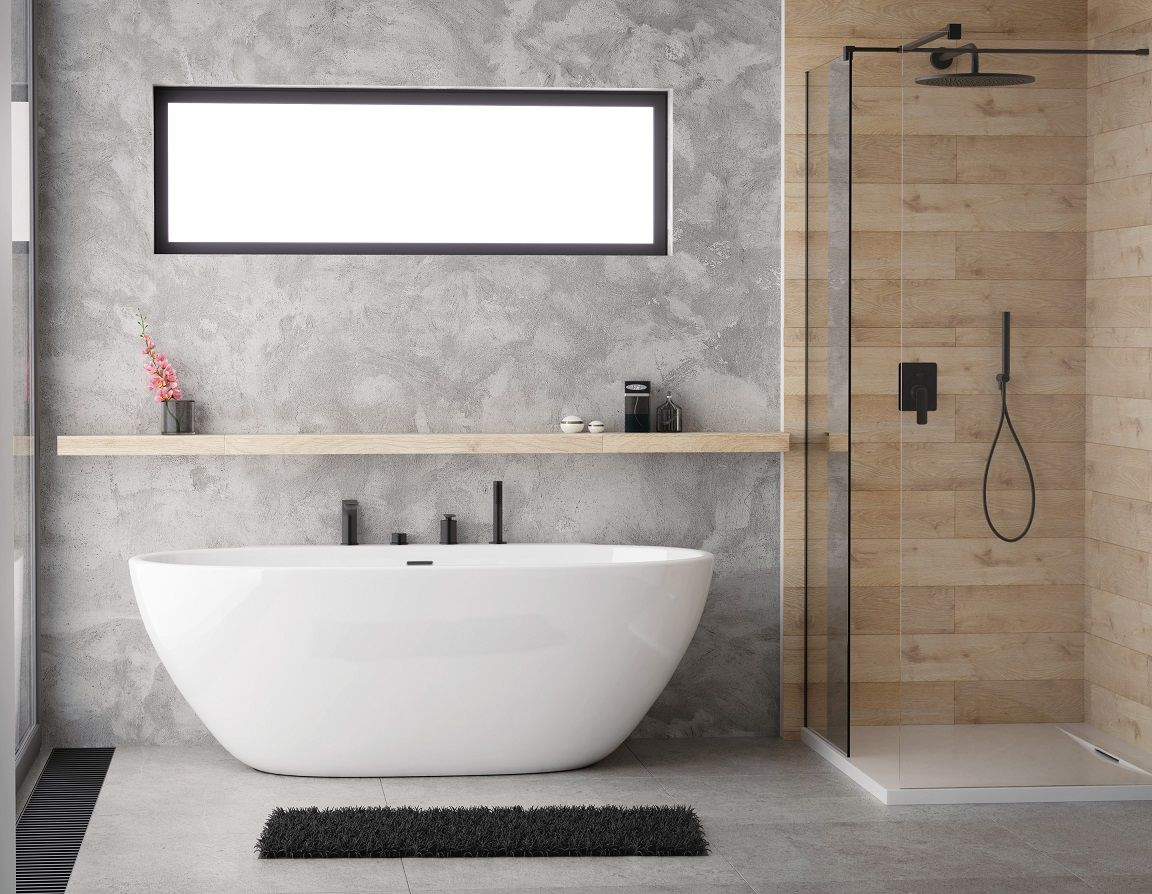 Przyscienna Wanna Scandibath Mandal Scandibath Budowa Inspiracjelazienkowe Budowadomutrwa Bathroom Interior Design Bathroom Inspiration Interior Design