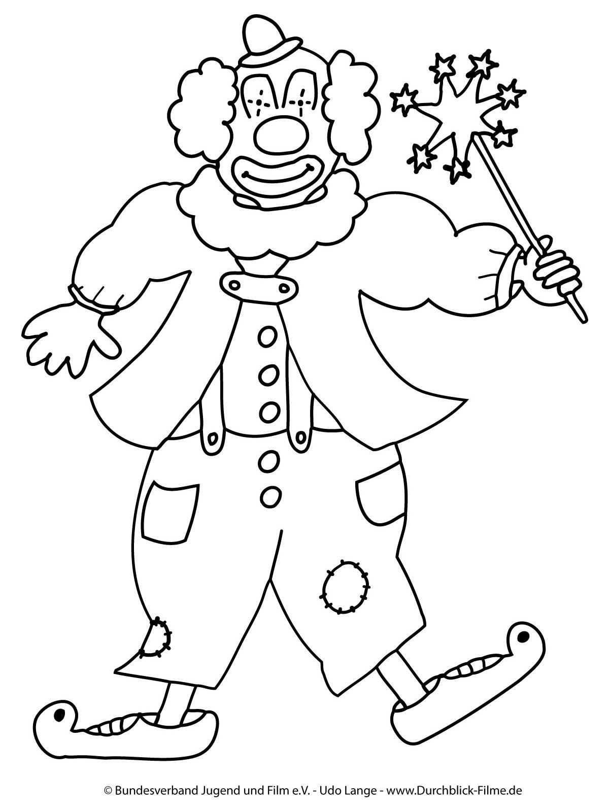 Frisch Clown Ausmalen Malvorlagen MalvorlagenfürKinder  ...