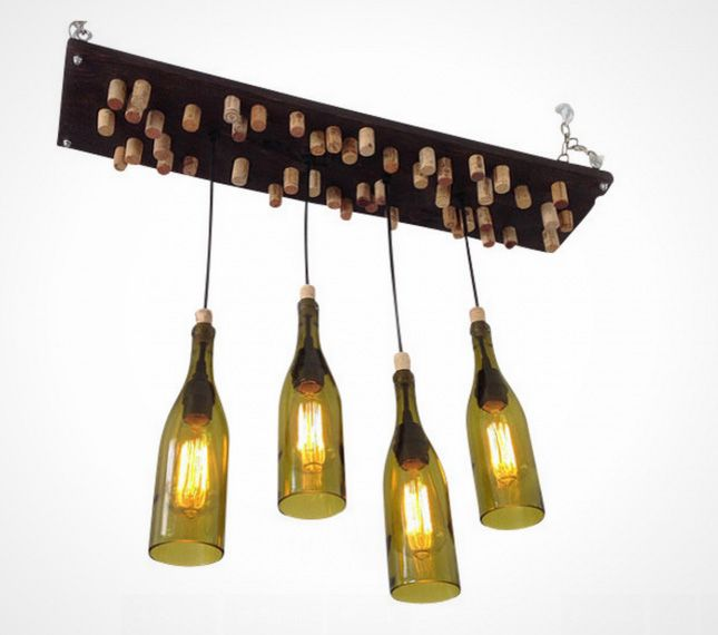 Diy this wine bottle chandelier for your bar to make from brit diy this wine bottle chandelier for your bar aloadofball Choice Image